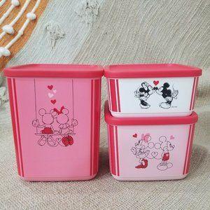 3 Pieces Rare Tupperware Disney Mickey and Minnie